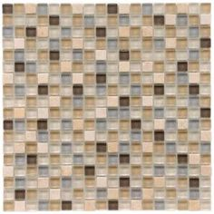 Tessera Mini River 11-3/4 in. x 11-3/4 in. Glass/Stone Mosaic Tile-GDMMSRV at The Home Depot