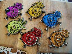 Felt birds with beadwork and embroidery