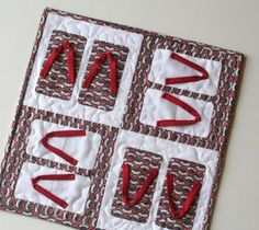 japanese quilt | This is my Japanese Mini Quilt for Vicki, the girl behind Accio fabric ...