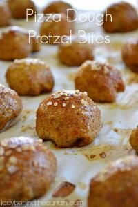 Pizza Dough Pretzel Bites on MyRecipeMagic.com. These are so easy made out of store bought pizza dough.