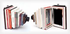 DIY Large Format Camera Created From Photography Books by Taiyo Onorato and Nico Krebs.