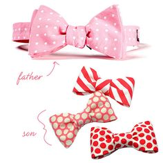 valentine's bow ties...yes!