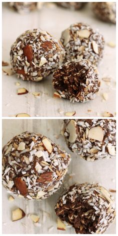 Must try...healthy and delicious treats. These easy to make, no bake energy balls are so yummy and great to pack in your kids lunch. Make, freeze and pull them out when you have a craving for something sweet.