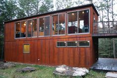 shipping container house by Vagabond nation, via Flickr