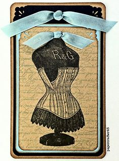 Victorian Corset Tag - Reader Featured Project - The Graphics Fairy Graphics Fairy, Free Graphics, Victorian Corset, Vintage Corset, Snowflake Images, Wedding Gift Tags, Atc Cards, Paper Tags, Vintage Crafts