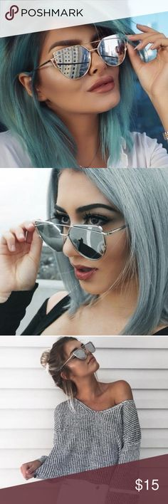 COMING SOON! Silver Mirror Sunglasses These cute shades have mirrored reflective glass lenses and cute thin framing  Matches with any outfit. ✔️15% off 3 or more items when you bundle  ❌No trades Accessories Sunglasses