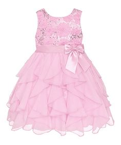 Another great find on #zulily! Ice Pink Sequin Ruffle Dress - Infant, Toddler & Girls #zulilyfinds