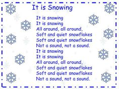 """A Teacher's Touch: """"It is Snowing"""" song and song chart"""