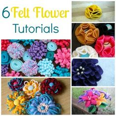 6 Felt Flower Tutorials