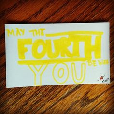 May the fourth be with you #lunchnotes #starwarsday by way2gomom