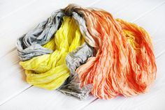 Silk Scarf Hand Dyed silk Scarf Hand painted silk by OLHAVscarves