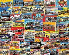 Postcards From America (1000 Piece Puzzle by White Mountain)