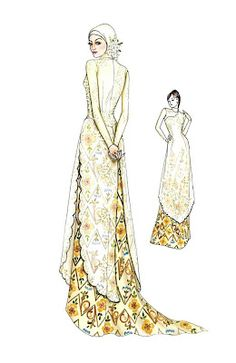 kebaya wedding dress. Inspiration for drawings.