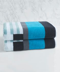 Loving this Blue Trestle Bath Towel on #zulily! #zulilyfinds