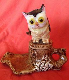 Vintage Owl on A Branch Salt and Pepper Shaker | eBay