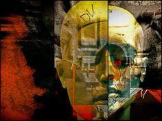 'One splitted face' von Gabi Hampe bei artflakes.com als Poster oder Kunstdruck $20.79