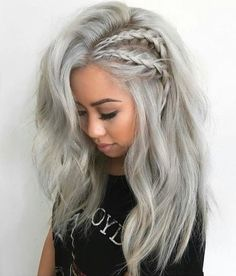 50 Ash Blonde Hair Color Ideas Ash blonde is a shade of blonde that's slightly gray tinted with cool undertones. Today's article is all about these pretty 50 Ash Blonde Hair Color. Latest Hair Color, Cool Hair Color, Hair Colors, Colours, Side Braid Hairstyles, Cool Hairstyles, Blonde Hairstyles, Bohemian Hairstyles, Short Hairstyle