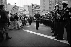 """October 1967: The largest anti-Vietnam War protest in the San Francisco Bay Area took place in downtown Oakland. The protesters proclaimed it 'Stop the Draft Week' and blockaded the Oakland Induction Center, where army recruits would arrive. Mace was used for the first time, along with police batons, to lift the siege."""