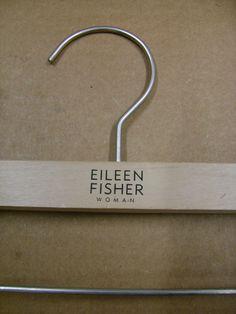 "EILEEN FISHER WOMAN PLUS SIZE 17"" WOOD PANT SKIRT HANGERS SET 20 #EILEENFISHERWOMAN"