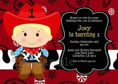 Cowboy Birthday Invitation Cowboy 1st Birthday Invitations Printable. $15.00, via Etsy.