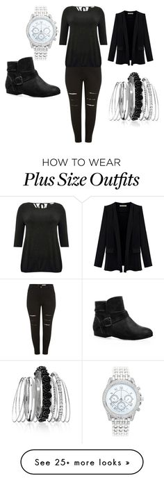 """""""dark and darker"""" by dragongemster99 on Polyvore featuring Avenue, Lane Bryant and M&Co"""