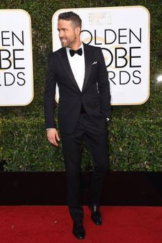 Golden Globes 2017 Dresses – Red Carpet Dresses & Outfits | British Vogue #Ryan Reynolds.
