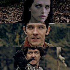 Morgana, Merlin, Mordred. The idea of their eyes lighting up golden was a stroke of pure genius. It sends chills down my spine every time when Merlin does it - you known things are either getting serious or epic... or both.