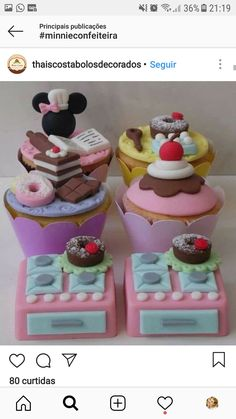Cupcakes, Cake Cookies, Cupcake Cakes, Candy Land, Fondant Toppers, Fondant Cakes, Bolo Mickey, Chef Cake, Teapot Cake