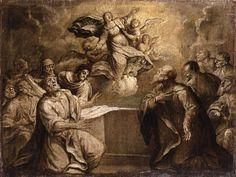 Pittore ambito emiliano - Assunzione della Vergine - 1640-1660 - Accademia Carrara di Bergamo Pinacoteca