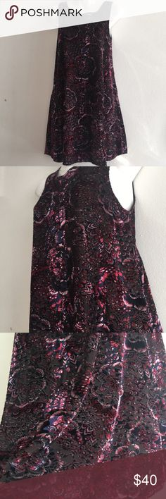 Minkpink Velvet Floral Brocade Tent Dress Size XS is marked but can fit a size small as well. The pictures don't do the dress justice. It's so beautiful in person. When the light hits it just right it's super shiny and gorgeous! Excellent condition, lightly used ! MINKPINK Dresses