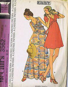 Vintage 1 PC Empire Dress Sewing Pattern McCalls 3562 Size 16 Bust 38 Hip 40 Cut   eBay