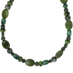 Color Connections Green Gemstones and Malachite Necklace #Emerald #ColoroftheYear