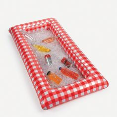 Rock this gingham style! This Inflatable Red Gingham Buffet Cooler is perfect for large parties. Just fill this inflatable red gingham print buffet with ice . Picnic Theme, Picnic Birthday, Picnic Parties, Picnic Party Themes, Bbq Party Decorations, Bear Birthday, Summer Parties, Birthday Fun, Birthday Parties