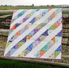 Good Fortune Crib Quilt by QuiltPetaler on Etsy, $162.00