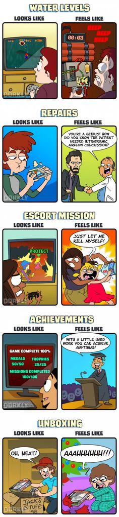 Gaming: What It Looks Like VS What It Feels Like