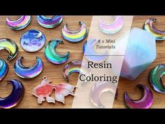 There are a lot of way for resin coloring. I am going to show you how to use color shifting pigment, pearlescent pigment, colored UV resin and clear film in . Resin Jewlery, Sea Glass Jewelry, Wire Jewelry, Handmade Jewelry, Leather Jewelry, Pearl Jewelry, Boho Jewelry, Bridal Jewelry, Jewelry Bracelets