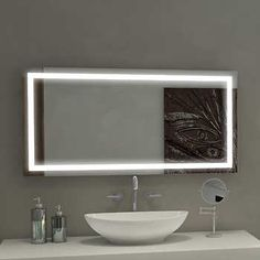 Hang Vertically In Our Master Bathroom Like The Additional Lighting Illuminated Led Mirror 48