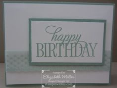 Stampin up mint macaron in color birthday card. happy birthday everyone stamp set