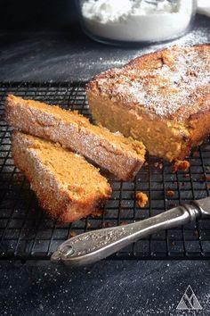 Gluten Free & Vegan Butternut Squash Bread - Little Pine Low Carb Sin Gluten, Vegan Gluten Free, Paleo Treats, Healthy Snacks, Healthy Breads, Healthy Baking, Butternut Squash Muffins, Paleo Breakfast, Breakfast Ideas