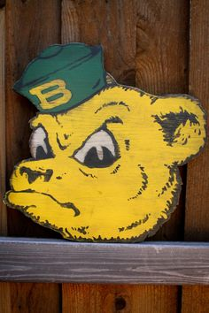 #SailorBear cut out of wood and painted by christopherrthompson // #SicEm #Baylor