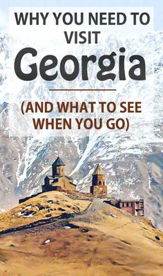 Travel Guide to Georgia - Tbilisi, Mtskheta, Kazbegi, Gergeti. Click through to read why Georgia should be #1 on your bucket list, and what you HAVE to see there!