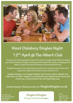 Our next Singles Mingles Singles Night in West Didsbury Manchester at The Albert Club, West Didsbury. The Albert Club is a fantastically eclectic victorian private members club house.  We will taking over the Albert from 8pm to 2am (last orders at 1am). There will be  over 100 singles, divided equally between gents and gals.  There will be music and dancing, so why not bring a group of friends for a great night out where you can meet other singles in a relaxed and 'normal' setting.
