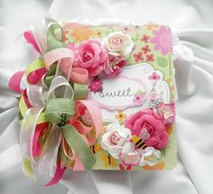 Lulla_74's Gallery: Sweet Little Ladybug Album.  I love the pretty pastel colours and the ribbons.