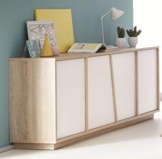 Mobilier - Salons et Séjours - Buffets - Buffet 4P EVASION Blanc et chêne