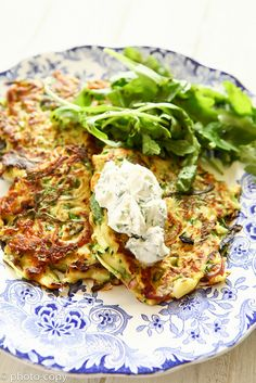 Courgette pancake Ingredients: Courgettes, Red onion, Egg, Rocket leaves, Plain flour, Creme fraiche, pepper, vegetable oil