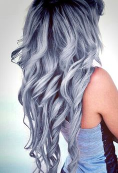 hair, grey, and color resmi