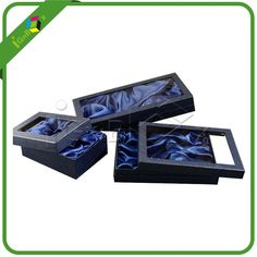 Delicate Paper Packaging Gift Boxes with Satin and Window