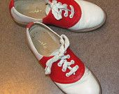 red white and white red shoes-shoes-glorious-shoes Vintage Girls, Vintage Outfits, Vintage Shoes, Cheerleading Shoes, Red White Blue, Black And White, Saddle Oxfords, Pink Cadillac, Bowling Shoes