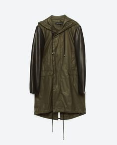 Image 11 of HOODED RAINCOAT from Zara