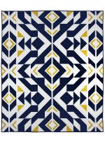Tons of free quilt patterns from Michael Miller Fabrics, like this one:  Bravo Indigo by Caroline Greco  81x61""